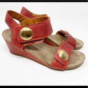 Taos Red Ankle Strap Sandal 1437